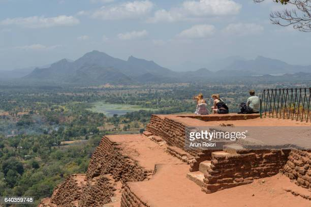 sigiriya or sinhagiri (lion rock sinhalese) is an ancient rock fortress located in the northern matale district near the town of dambulla in the central province, sri lanka. - sigiriya stock photos and pictures
