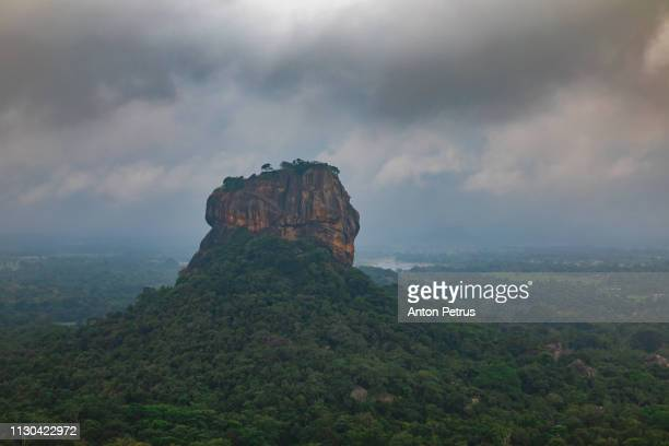 Sigiriya rock at misty morning, Sri Lanka.