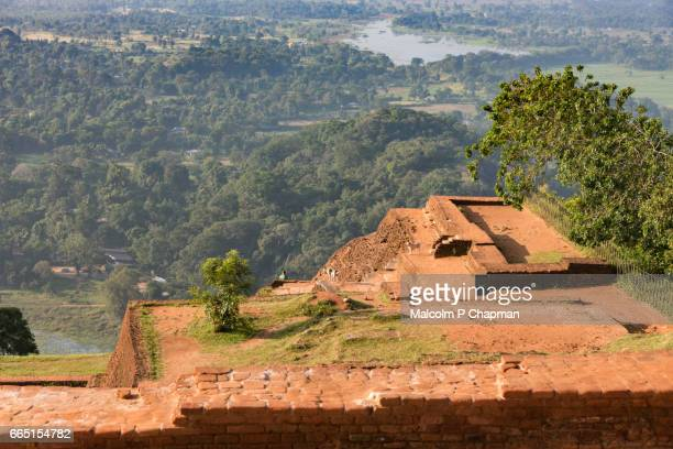 Sigiriya Rock Fortress, ruins of Palace and view from top, Dambulla, Sri Lanka