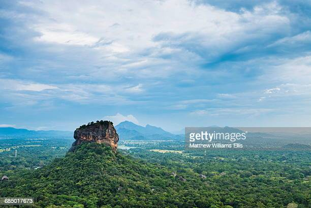 sigiriya rock fortress, unesco world heritage site, seen from pidurangala rock, sri lanka, asia - sigiriya stock photos and pictures