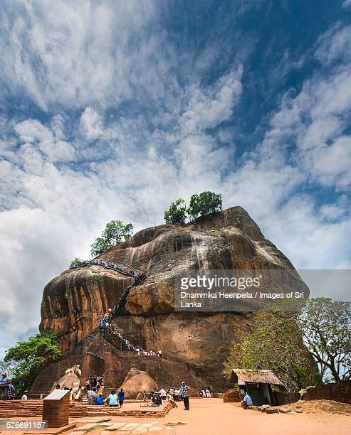 sigiriya rock in sri  lanka - sigiriya stock photos and pictures