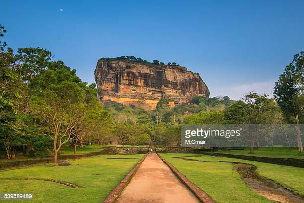 sigiriya rock - sigiriya stock photos and pictures