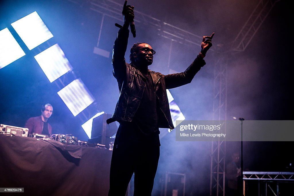 Sigma performs on stage at Bute Park on June 12, 2015 in Cardiff, United Kingdom