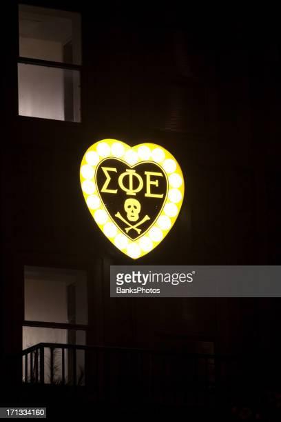 sigma phi  epsilon fraternity sign - university of nebraska lincoln stock pictures, royalty-free photos & images