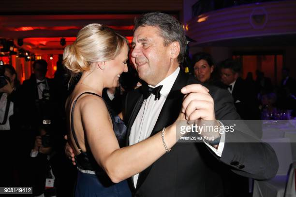 Sigmar Gabriel and his wife Anke Stadler during the German Film Ball 2018 at Hotel Bayerischer Hof on January 20 2018 in Munich Germany