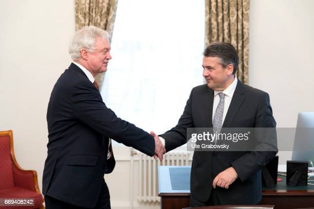 Sigmar Gabriel SPD Vice Chancellor and Federal Foreign Minister of Germany meets David Davis Minister for the resignation from the European Union of...