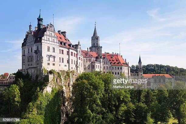 sigmaringen castle, upper danube nature park, swabian alb, baden wurttemberg, germany, europe - baden württemberg stock photos and pictures