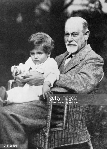 Sigmund Freud with his grandson, Stephen Gabriel Freud , in Germany 1922. Sigmund Freud ; Austrian neurologist and the founder of psychoanalysis....