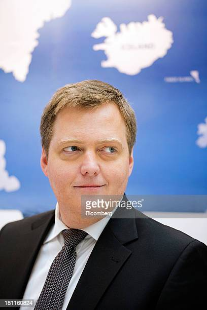 Sigmundur Gunnlaugsson Iceland's prime minister poses for a photograph following an interview in London UK on Thursday Sept 19 2013 Iceland's banks...