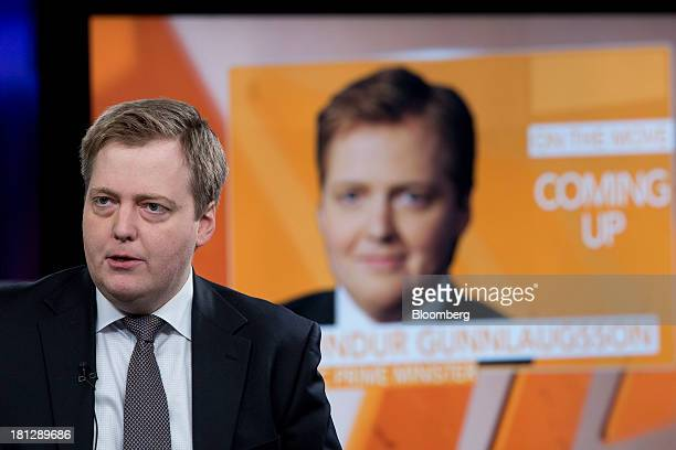 Sigmundur Gunnlaugsson Iceland's prime minister speaks during a Bloomberg Television interview in London UK on Friday Sept 20 2013 Iceland's banks...