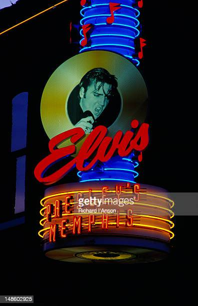 Sign above entrance to Elvis Presley's club on Beale Street.