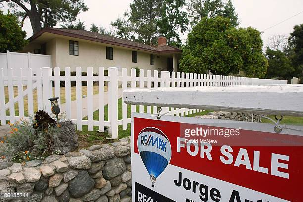 A sign advertises a house for sale on April 23 2009 in Pasadena California About half of all homes sold last month were sold to firsttime homebuyers...