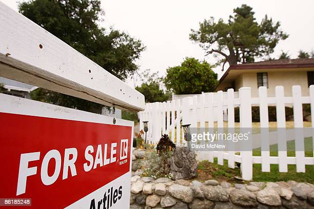 Sign advertises a house for sale on April 23, 2009 in Pasadena, California. About half of all homes sold last month were sold to first-time...