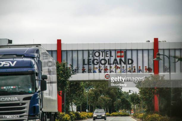 A sign advertises the Hotel Legoland near the headquarters of Lego A/S in Billund Denmark on Thursday Sept 5 2013 Lego the Danish buildingblock maker...