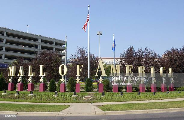 Sign advertises the Mall of America July 16, 2002 in Bloomington, Minnesota. The Mall of America is the largest shopping mall in the United States,...