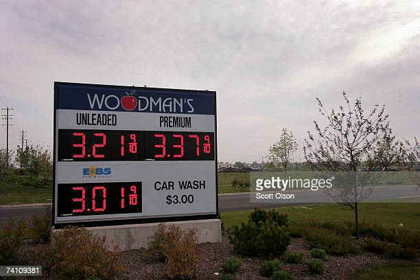A sign advertises the price of ethanol and gasoline at a station May 8 2007 in North Aurora Illinois More acres in the United States are expected to...