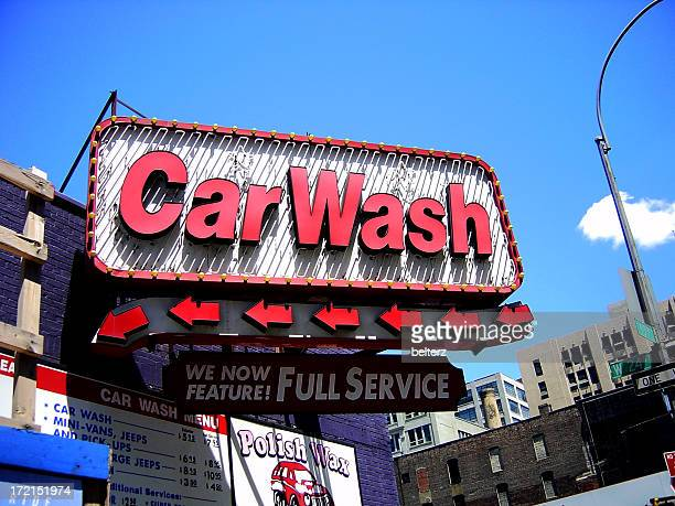 Sign advertising a full service car wash