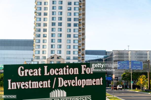 A sign advertising available property on June 29 2018 in Atlantic City New Jersey Two new casinos opened this week in the seaside resort as residents...