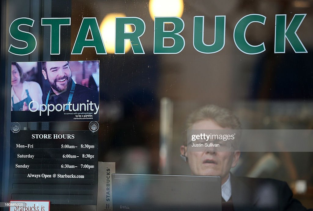 A sign advertising jobs is posted in the window of a Starbucks Coffee shop on February 7, 2013 in San Francisco, California. According to a Labor Department report, weekly jobless claims dropped 5,000 to 366,000 in the week ending on February 2.