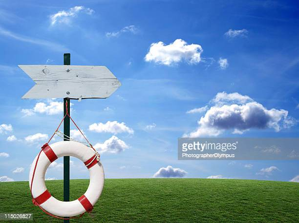 Sign and Buoy