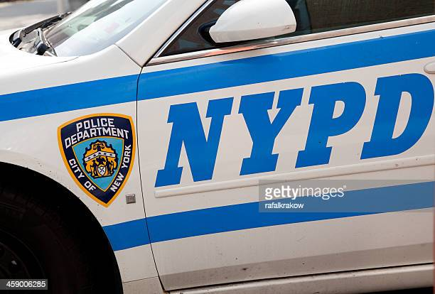 nypd sign and logo - new york city police department stock pictures, royalty-free photos & images