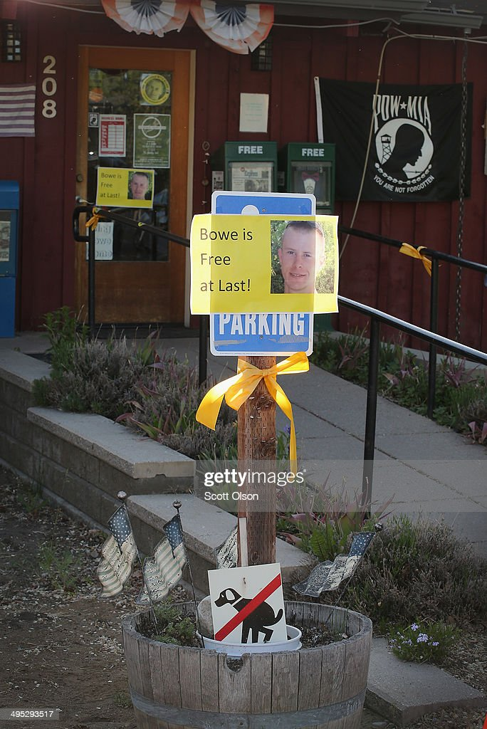 A sign announcing the release of Sgt. Bowe Bergdahl sits outside Zaney's coffee shop where Bergdahl worked as a teenager on June 2, 2014 in Hailey, Idaho. Sgt. Bergdahl was captured in Afghanistan in 2009 while serving with U.S. Armys 501st Parachute Infantry Regiment in Paktika Province. He was released after a deal was worked out to swap his freedom for the freedom of 5 Taliban prisoners being held at Guantanamo Bay. Bergdahl was considered the only U.S. prisoner of war held in Afghanistan.