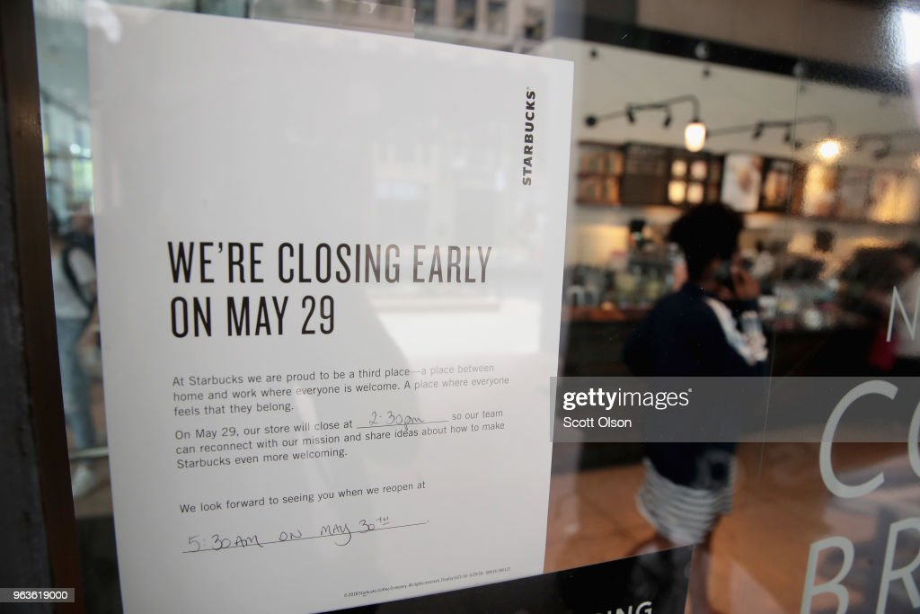 Starbucks Closes 8000 Stores Nationwide For Racial Bias Training : News Photo