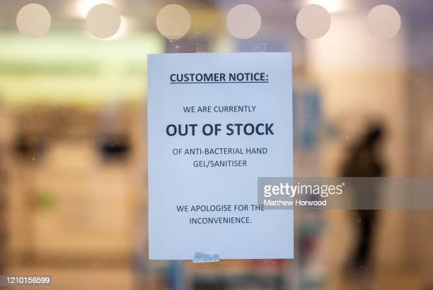 A sign at a Boots chemist after the retailer ran out of hand sanitiser on March 3 in Cardiff Wales Another 11 cases of coronavirus were confirmed in...