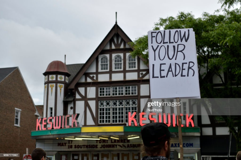 Sign at a protest outside a tour stop of conservative political commentator Tomi Lahren at the Keswick theatre in Glenside, PA, in the Philadelphia suburbs, on May 17, 2018.