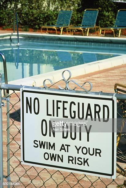Sign at a swimming pool