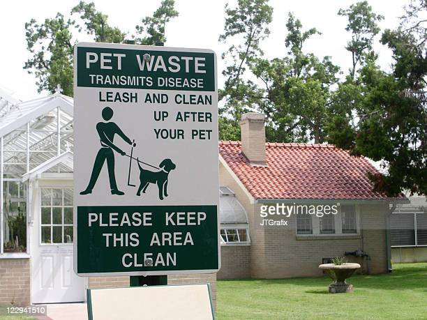 公園で犬のサイン