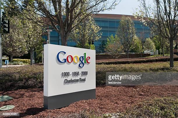 signer dans le siège de google - siège social photos et images de collection
