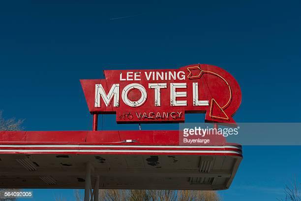 Sign at Motel Lee Vining California