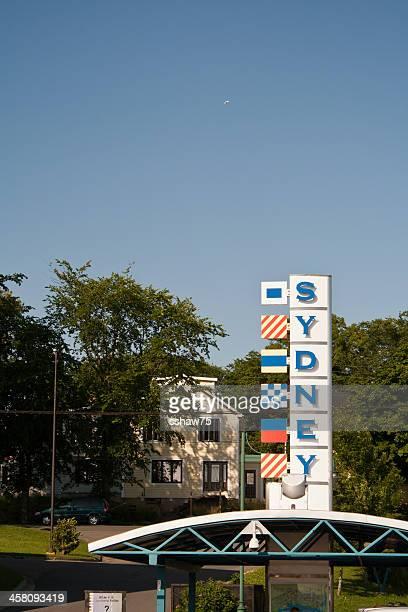 señal del puerto de sídney - sydney fotografías e imágenes de stock