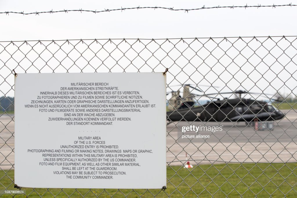 Katterbach Germany Map.Helicopter Base Of The Us Army Ansbach Katter Pictures Getty Images