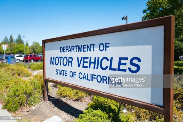 Sign at the California Department of Motor Vehicles office in Plesanton California August 28 2018