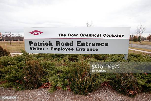 Sign at the entrance of Dow Chemical corporate headquarters is shown December 10th, 2015 in Midland, Michigan. Recent news reports have indicated a...
