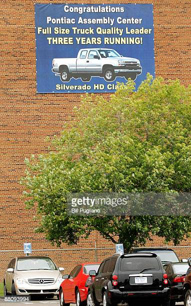 A sign at the General Motors Pontiac East Assembly plant is seen June 1 2009 in Pontiac Michigan GM filed for Chapter 11 bankruptcy this morning in...