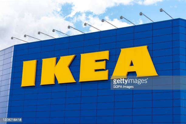 Sign at the Scandinavian chain IKEAs store in Greenwich.