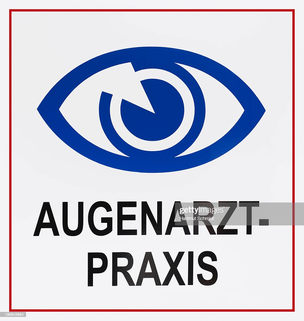 Sign Augenarztpraxis German For Eye Specialists Surgery With Eye