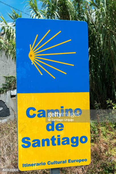 Sign board of Camino De Santiago