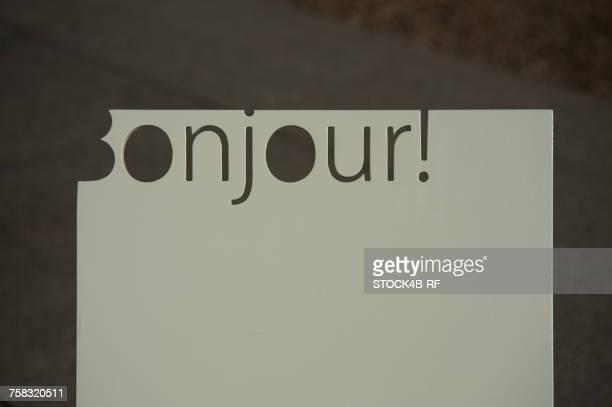 Sign Bonjour
