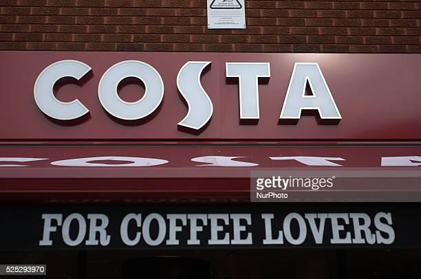 A sign denoting the prescense of a Costa Coffee shop