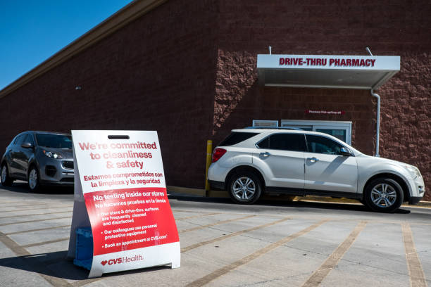 TX: CVS Health Drive-Thru Covid-19 Testing Site As Texas Cases Spike