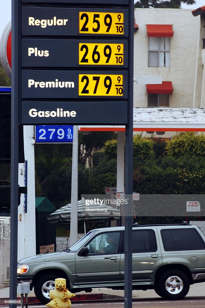 Gas Prices San Diego >> A Sign Displays Gasoline Prices At A Service Station In San