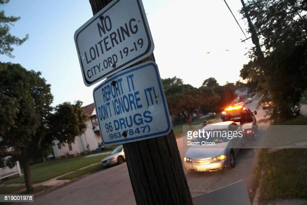 A sign encourages residents to report drug problems on July 13 2017 in Rockford Illinois Rockford a city of about 150000 located in northern Illinois...