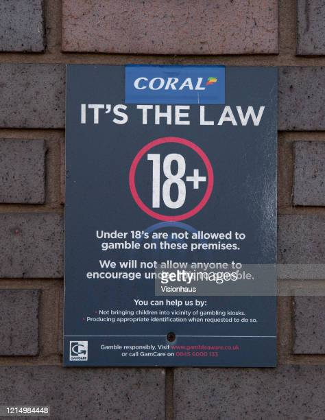 Sign explaining the rules and restrictions on betting inside the ground outside the West Stand of The Hawthorns home of West Bromwich Albion FC on...