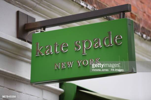 A sign for a Kate Spade shop in Covent Garden London The American fashion designer Kate Spade was found dead in her apartment in New York on Tuesday...