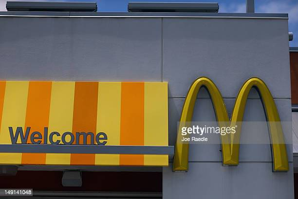 A sign for a McDonald's restaurant is seen July 23 2012 in Miami Florida The company announced that 2nd quarter profit dropped 45 percent