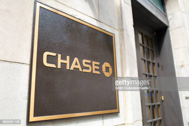 Sign for a private banking branch of Chase Bank on the Upper East Side of Manhattan New York City New York September 14 2017